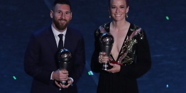 Lionel Messi y Megan Rapinoe